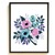 Floral Modern Cross Stitch Pattern, botanical, flower, watercolor, cross stitch