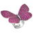 925 Sterling Silver Beautiful Cubic Zircon Adjustable Butterfly Gemstone Ring