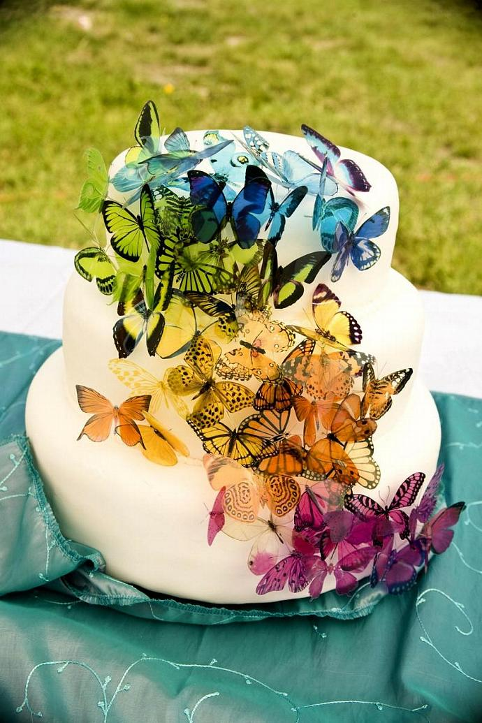 60 Butterflies for a Martha Stewart Replica Cake for Weddings, Parties & More