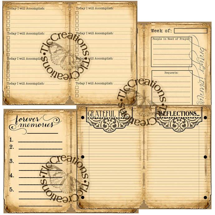 Just the Basics Record Keeping Junk Journal Printables  Junk Journal Vintage