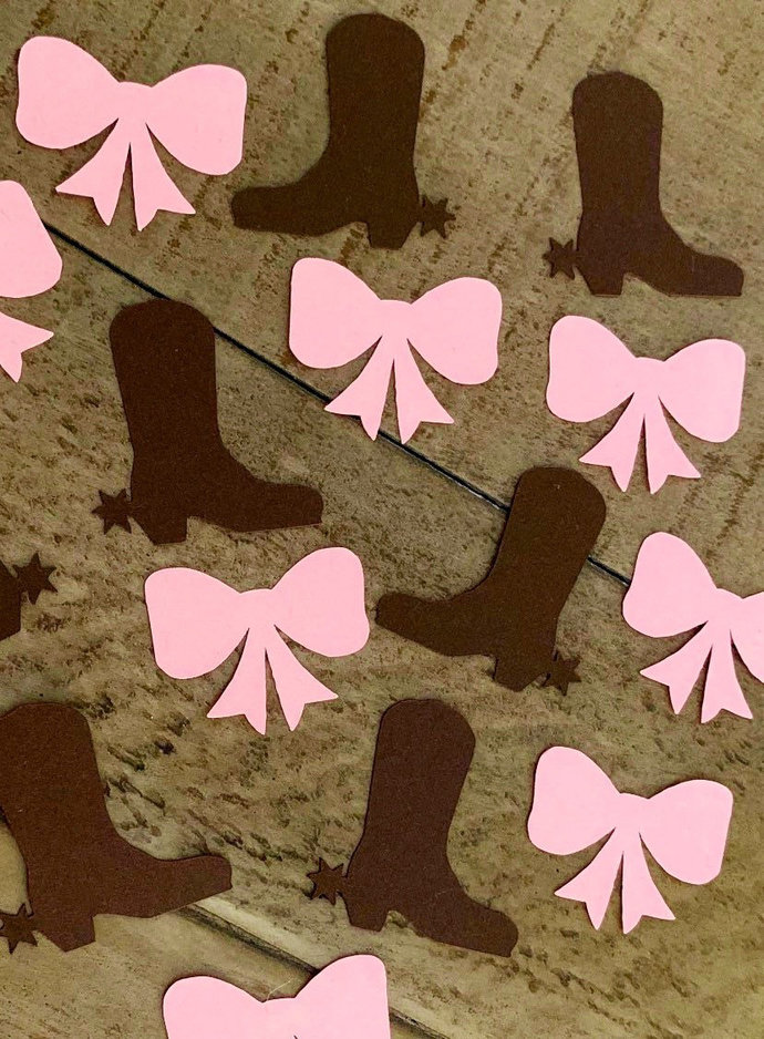 Boots and bows party theme ~ Cowgirl Themed party ~ Gender reveal decor ~ Baby