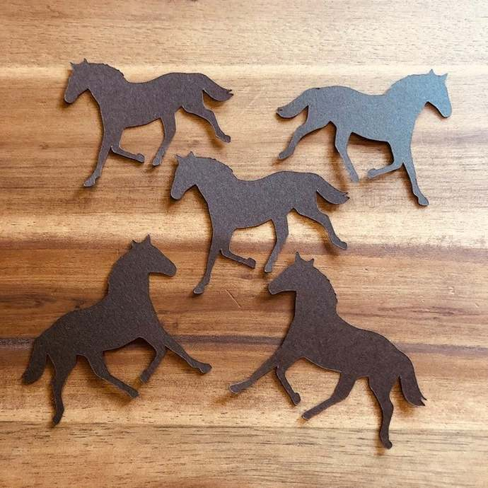 Horse Party Decoration, Pink Horse Confetti, Cowgirl, Girl Birthday Party, 100
