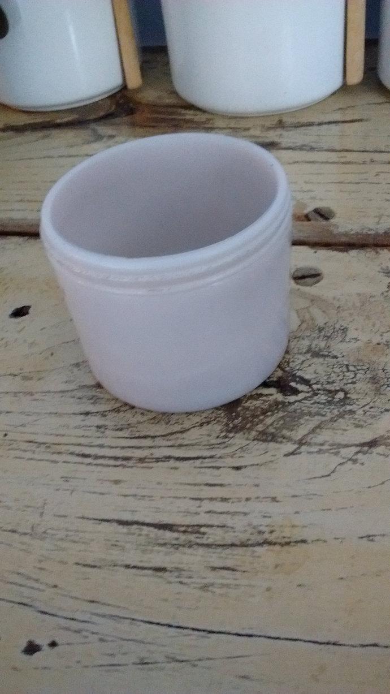 Antique Ultra Rare Turn of The Century Lavender Milk Glass Large Cold Cream Jar