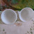 2 Pyrex Cups with Buttercups and Butterfly