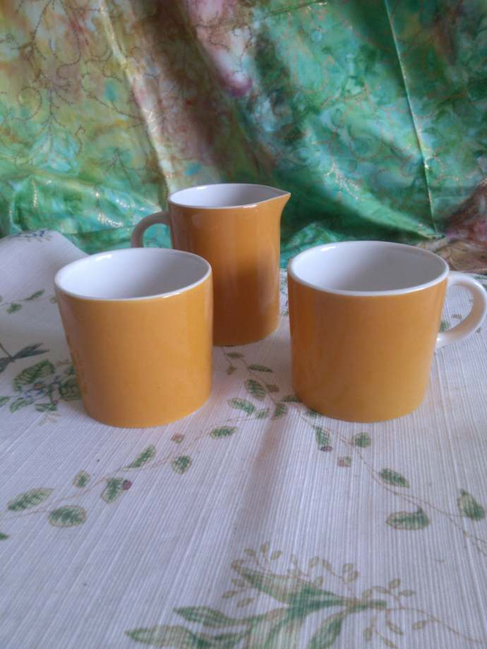 2 Coffee or Tea Mugs and a Matching Pitcher from Japan