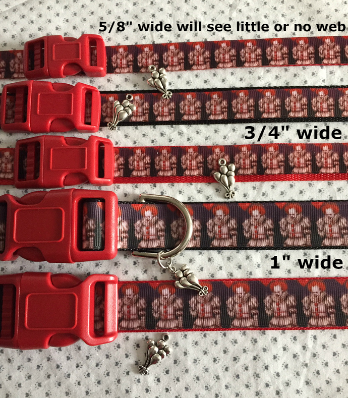 IT, New Pennywise, Stephen King, adjustable Dog or Cat Collar, adjustable Collar