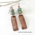 Textured Copper Earrings with African Turquoise Stones - Boho Chic Modern