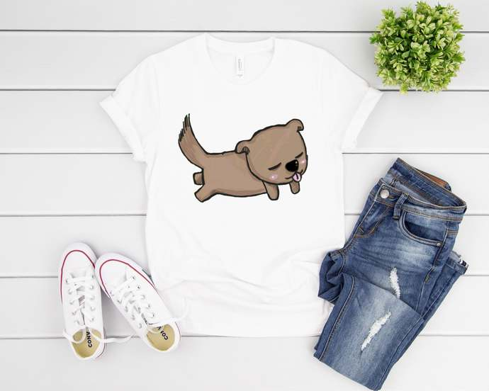 Cute T-shirt Birthday Gift for Dog Lovers Unisex Adult Clothing Cute Puppy Art