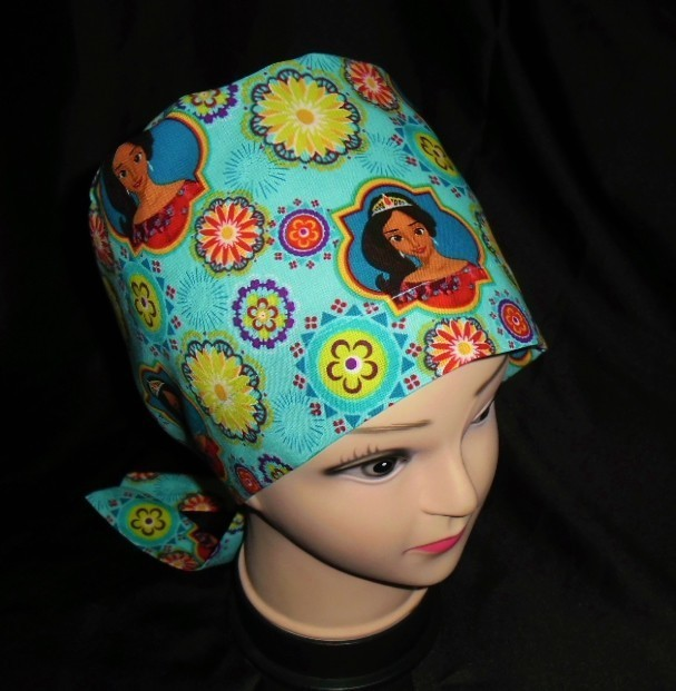 Made From Disney Elena Of Avalor Fabric Surgical Scrubs Scrub Caps Pixie Cap