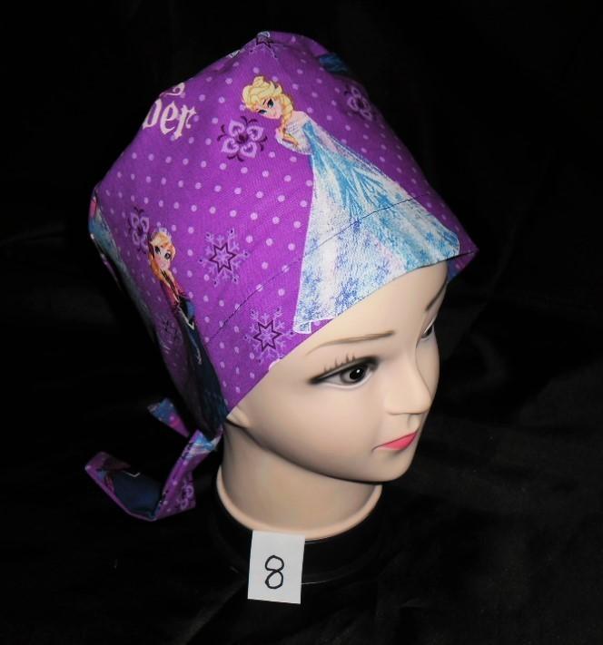Disney Frozen Sisters Forever Pediatric Nurses Scrubs Scrub Hats Pixie Tie Back