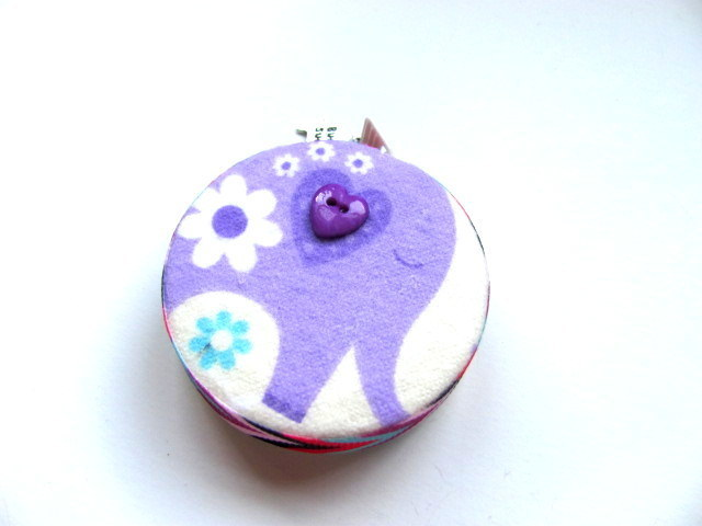 Tape Measure Blue and Purple Elephants Retractable Measuring Tape
