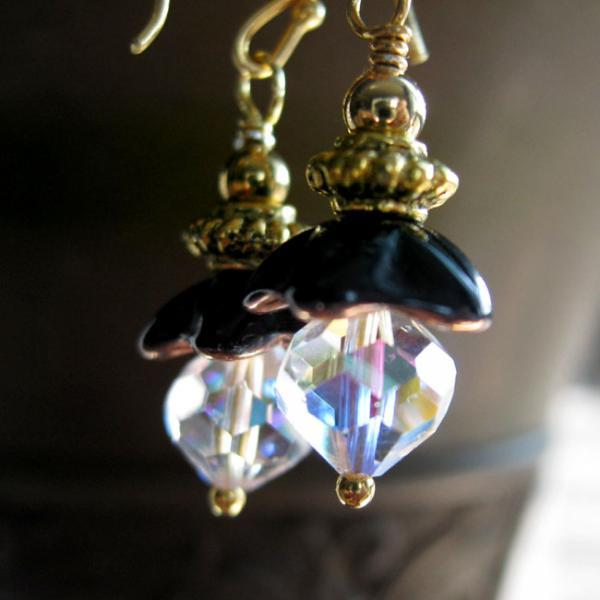 Crystal Rain Drop Earrings