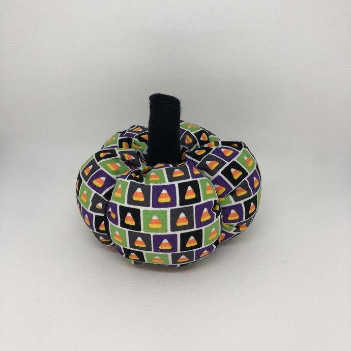 Small Candy Corn Pattern Fall Decor Soft Fabric Pumpkin