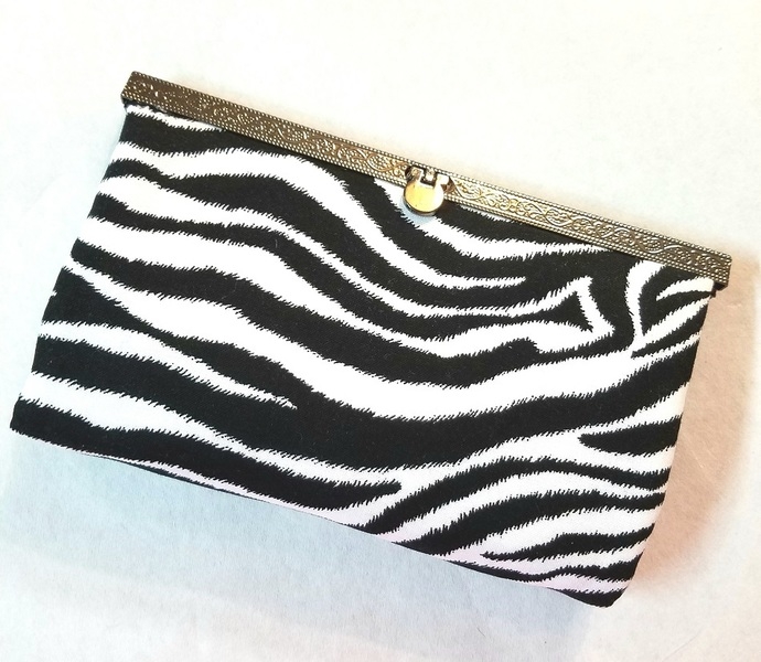 Diva Wallet Clutch Purse Zebra Print