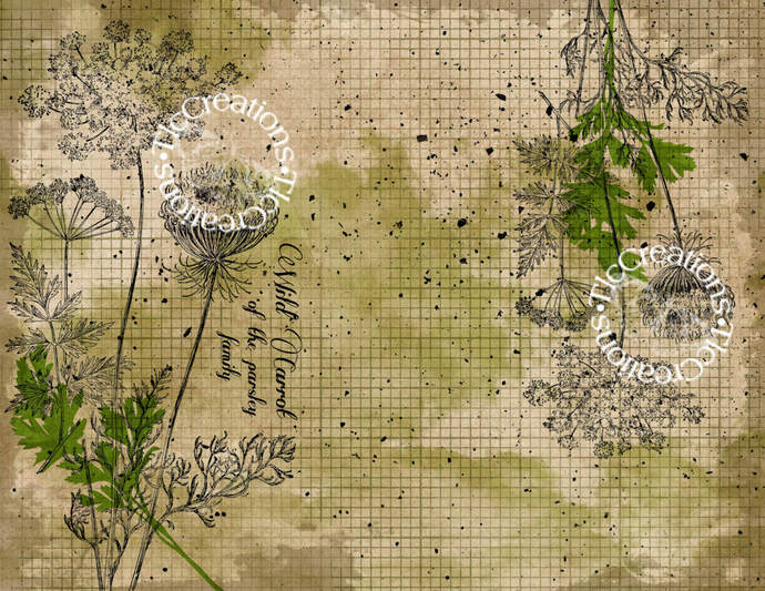 Herbs Mix it Up Mini Kit Printable Papers Junk Journal