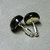 10mm Black Onyx Gemstone Post Earrings with Sterling Silver