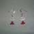 Beaded Pierced Earrings - Red Angel - Fashion Jewelry