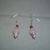 Beaded Pierced Earrings - Pink Cupcake with Cherry on Top - Fashion Jewelry