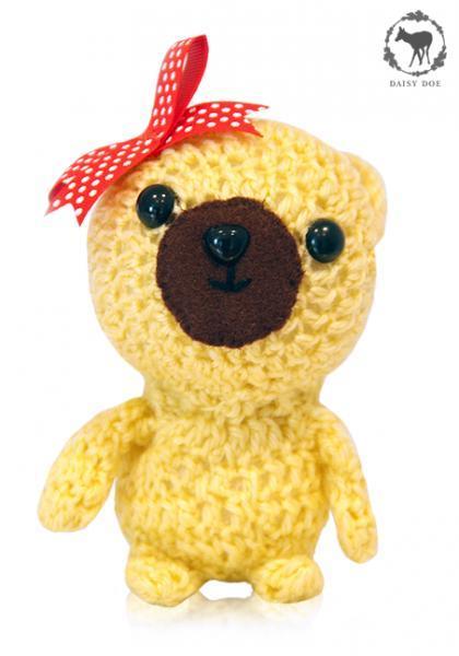 Yellow Teddy Bear (Crochet Soft Toy)