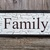 Family sign, chippy