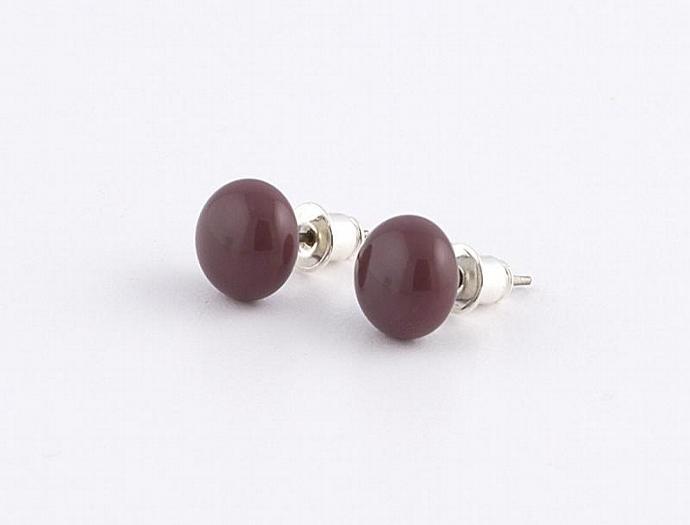 Circle Post Earrings in Purple