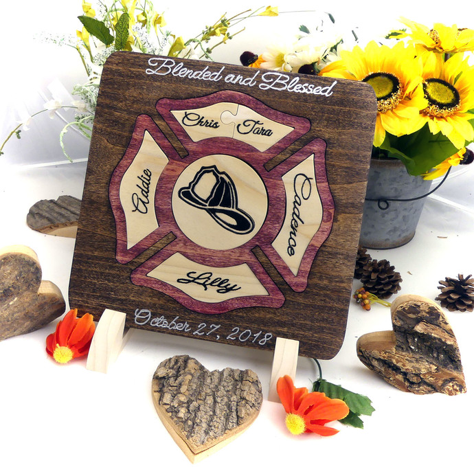 Fire Fighter Unity Puzzle in a Tray® Unity Puzzle Ceremony Unique Unity Ideas