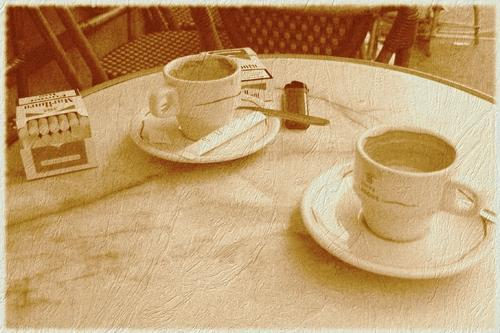 Coffee at Cafe Le Palmier in Paris