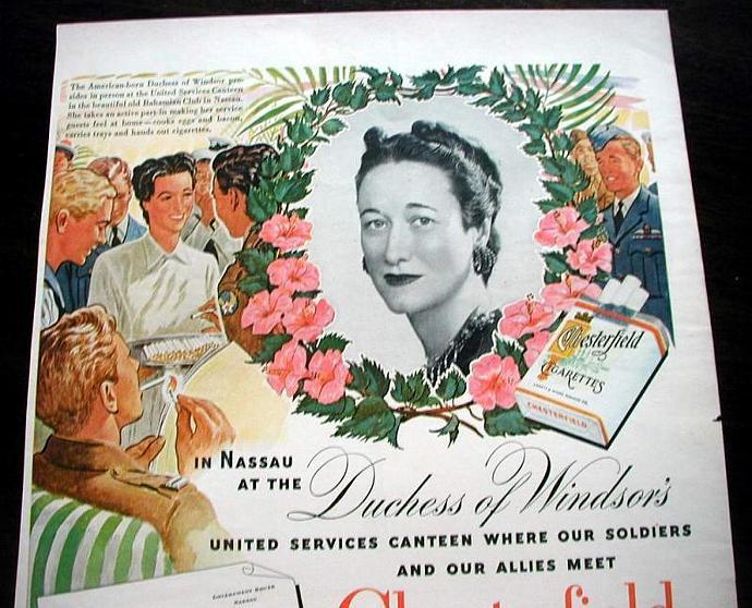 1943 Life Magazine Ad-Duchess of Windsor. Camel Cigarettes