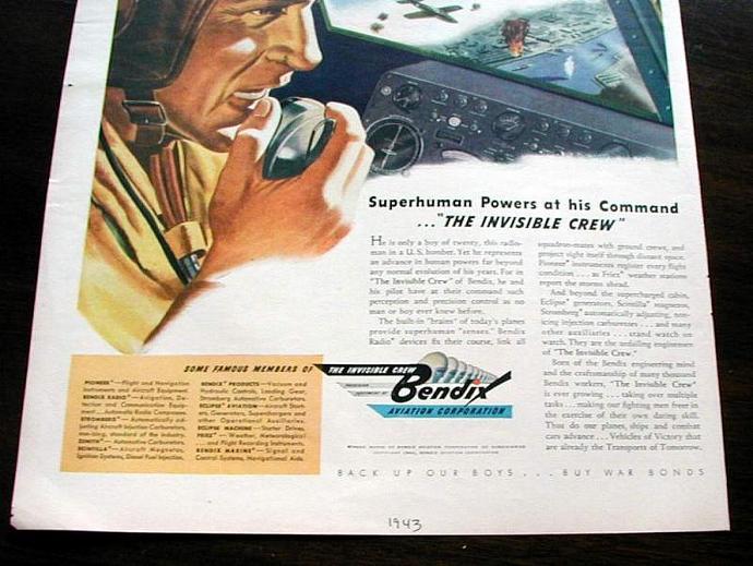 1943 Life Magazine Ad-Bendix Aviation Corporation