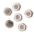 925 Sterling Silver Handmade Antique Hexagon Shape Strand reducer Beads