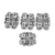 925 Sterling Silver Antique Spacer Rhombus Rectangular Strand spacer Beads