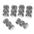 925 Sterling Silver Antique Spacer Rhombus Rectangular Strand reducer Beads