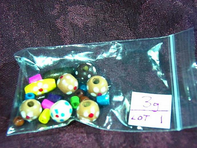 Mixed wood beads- LOT 1