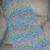 Crochet Prayer Shawl Wrap - Ocean - Super Soft Lion Brand Homespun Yarn - Ready