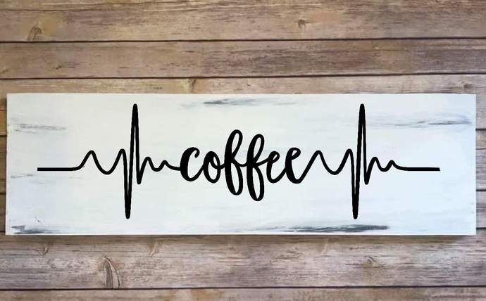 Wooden sign, home decor, coffee sign, hand painted sign, coffee bar, kitchen