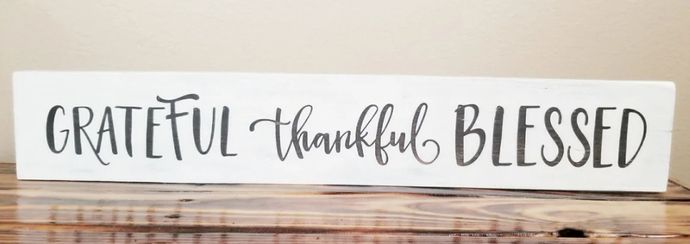Home decor, gallery wall, hand painted sign, grateful, thankful, blessed sign,