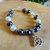 Triquetra Black and White Pearl Bracelet
