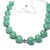 Jade heart necklace with sterling silver and amethyst, 18 inches adjustable down