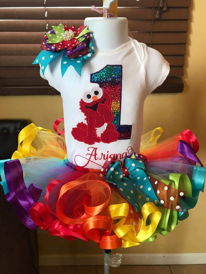 Elmo birthday outfit, Elmo tutu set , baby Elmo tutu set, Elmo birthday shirt