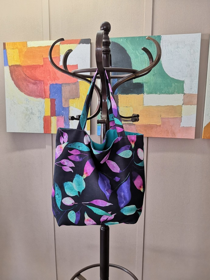 Tote Bag - Floral Purple
