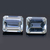Brazilian Aquamarine faceted  Octagon 9X7  flawless loose Gemstone