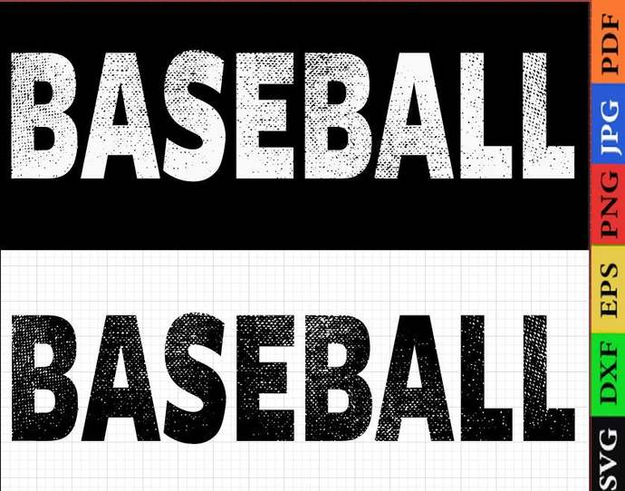 Grunge baseball svg, torn baseball svg, baseball mom svg, ripped baseball svg,