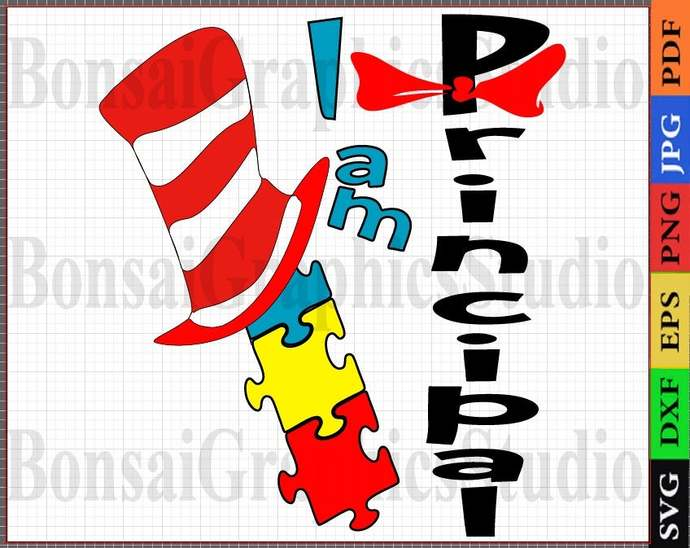 Principal I Am SVG, Gift For Principal, Cutting office Gift, the Hat, funny