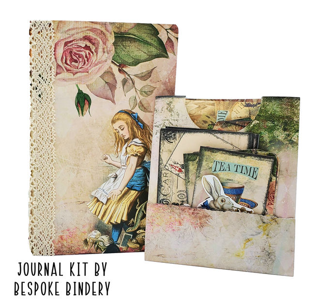 Alice in Wonderland Journal Kit: Comes with an 80 page premade journal and