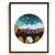 Night express Cross Stitch Pattern landscape, modern, mountain, nature cross