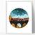 Night express Cross Stitch Pattern landscape, modern, mountain, nature cross