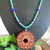 "Cherokee Language ""Water is Life"" Cedar Necklace, Gemstone and Seed Bead"