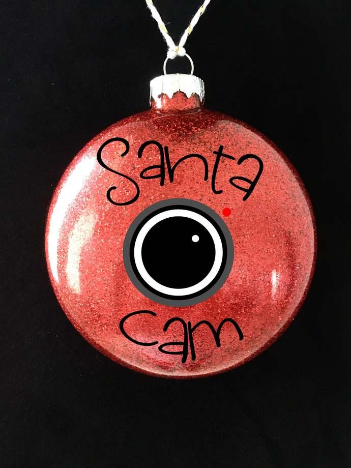 Santa Cam Christmas Ornament, Santa Cam, Custom Christmas Ornament, Christmas