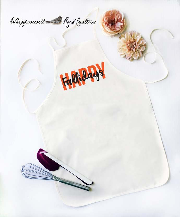 Happy Fallidays,  Kitchen Apron, Cooking Apron,Apron, Funny Apron for Men,
