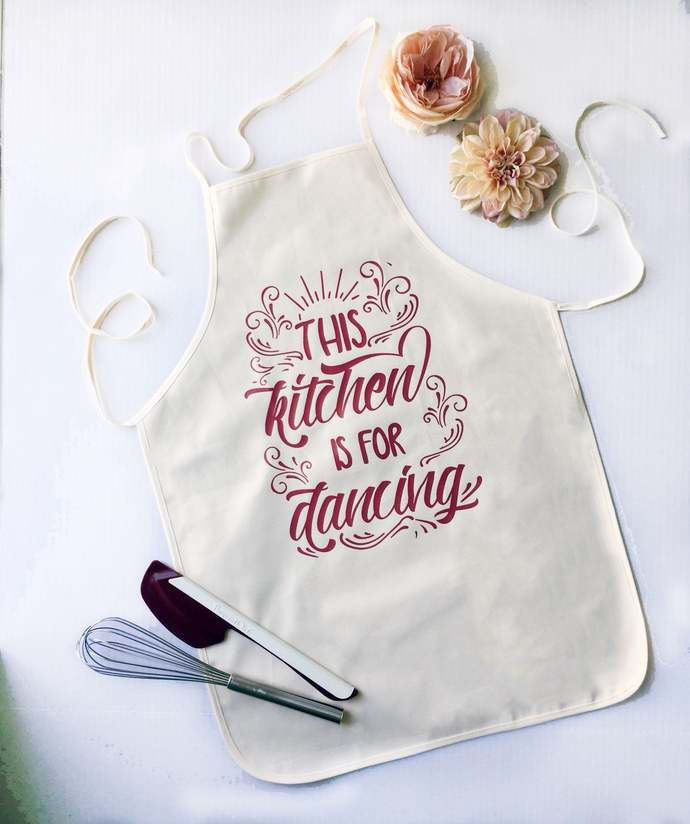 This kitchen is made for dancing, Apron, Gift Idea, Housewarming, Cooking,